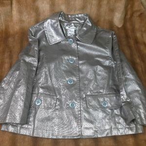 Like new Nygard silver jacket coat 3/4 sleeves